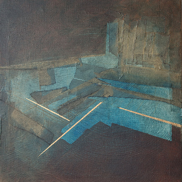 'No turning back' 30cm * 30cm Oil and paper on canvas