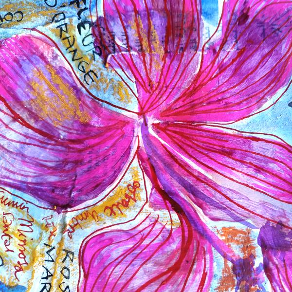 Piments-Doux. Watercolour, pen and ink. 12cm x 15cm